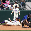 TCU Baseball Game # 31 vs Air Force 4-6-08 : Air Force pitcher, Jake Petro, shut the Frogs down for 7.67 innings allowing only 3 hits and 0 runs to give the Falcons a 2 to 0 lead going into the bottom of the ninth inning. In the ninth inning the Frogs used a lead off walk to Clint Arnold, a double by Chris Ellington and a clutch bases loaded single by Bryan Holaday to score 3 runs and beat the Falcons 3 to 2. Greg Holle,Trent Appleby and Andrew Cashner pitched well for the Frogs holding Air Force to 2 runs. Cashner picked up the victory in relief.