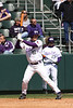 TCU Baseball game #10 vs Ole Mississippi 3-8-08 : The Horned Frogs lost the first game of a doubleheader against the University of Mississippi, ranked #2 in the country, by a score of 3 to 1. Tyler Lockwood pitched an outstanding game in relief of starter, Seth Garrison, pitching 5.67 innings of shutout ball and only allowing 3 hits. Steve Ellington was the only effective Frog at the plate going 2 for 3 on the day.