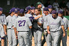TCU Baseball game #61 vs BAYLOR NCAA Game #3 6-3-2007 : The Magical 2007 Baseball Season continues as the Frogs overcome a 5 to 3 deficit to the Baylor Bears by scoring 7 runs in the top of the ninth inning and winning 10 to 5. Senior Steven Trout singled in a pair of runs to tie the game and then pinch hitter Matt McGuirk hit a grandslam to put the game away for TCU. Along with his single and 2 RBI's Trout added another hit and scored twice. Austin Adams also had 2 hits, 2 RBI's and 2 runs scored while Andrew Walker contributed 3 hits, a RBI and scored twice. Sophomore Taylor Cragin pitching in relief of Chance Corrigan threw 4 superb innings, holding Baylor to 1 run on 3 hits and earning the biggest win of his career and the Frogs season. TCU now faces and must defeat Rice twice to move on to the Super Regionals.