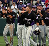 TCU Baseball vs Oregon State NCAA Regionals 5-30-2009 : Freshman Kyle Winkler pitched 8 innings of 2 hit baseball and the Horned Frogs rolled to a 13 to 1 victory over Oregon State, TCU's second win with no defeats in the NCAA Regionals at Lupton stadium. Chris Ellington had the key hit in the game, smashing a 2 run home run in the top of the second to give TCU a lead they never relinquished. Seniors Matt Carpenter and Matt Verne each had 3 hits,  3 rbi's and scored twice. With his 2 doubles Carpenter is now the Frogs all time career leader in this category.
